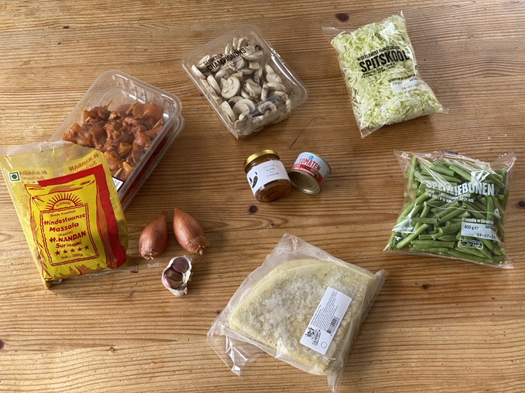 Lazy Man Roti: de ingrediënten